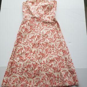 J crew strapless floral dress size 8